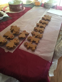 Gingerbread men - before icing